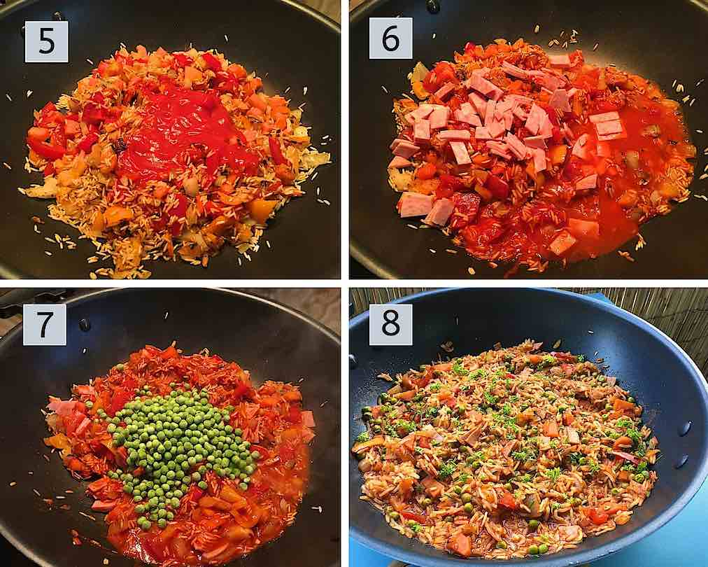 Instructions how to prepare Mexican Rice