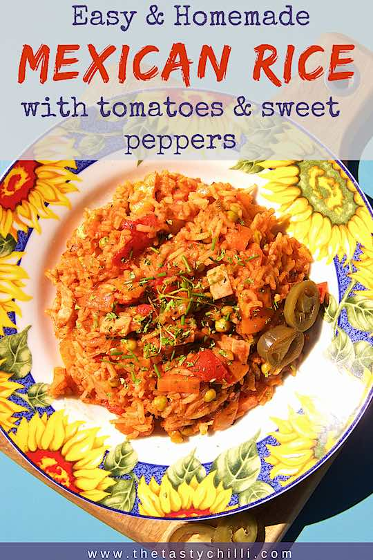 Easy Mexican Rice with tomatoes and sweet peppers | Spice Mexican Rice with tomatoes #mexicanrice #recipe #rice