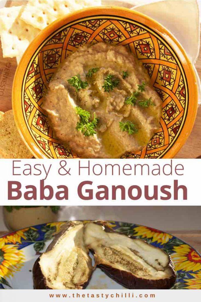 Easy and homemade Baba ganoush is a roasted eggplant dip from the Middle Eastern cuisine