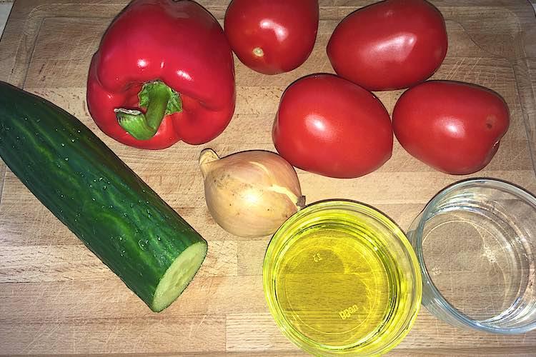 Gazpacho soep ingrediënten