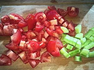 gazpacho gesneden groenten