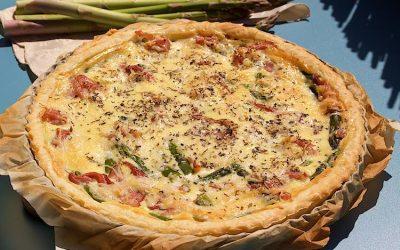 Ham and asparagus quiche recipe