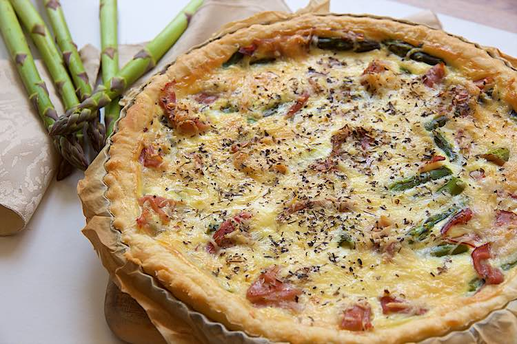 Asparagus and ham quiche recipe