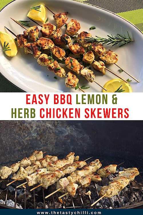 Easy BBQ lemon and herb chicken skewers | Lemon herb chicken kebabs