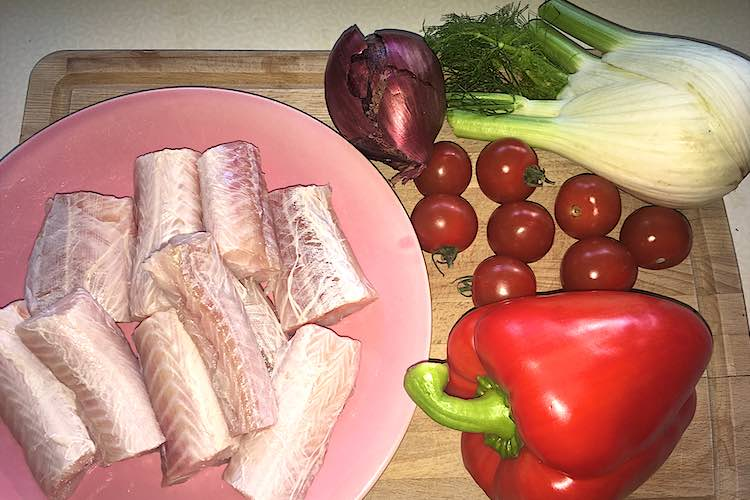 Ingredients Mediterranean dog fish stew
