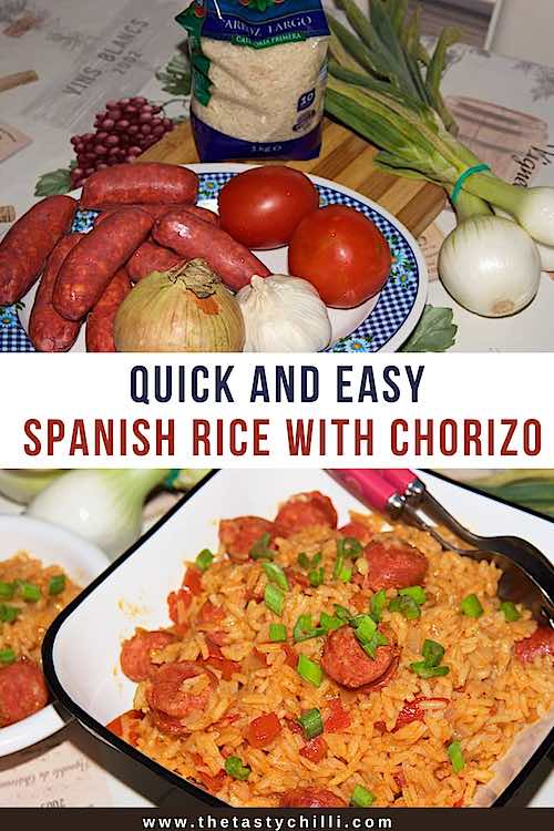Quick and easy spanish rice with chorizo | one pot spanish rice with chorizo | chorizo recipes #spanishfood #campingfood #chorizorecipes