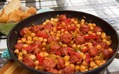 Spanish chorizo and chickpea stew