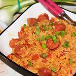 Eenpansgerecht spaanse rijst met chorizo worst recept