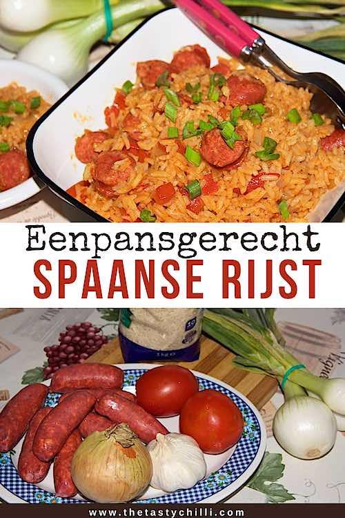 Eenpansgerecht Spaanse rijst met chorizo en tomaten | Eenpansgerecht met rijst chorizo en tomaten | Eenpansgerecht voor de camping