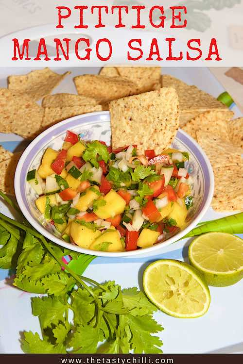 Pittige Mango salsa met komkommer paprika limoen | mangosalsa met komkommer | salsa van mango | mangosalade of mango salade