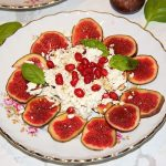 Feta and fig salad with pomegranate balsamic honey dressing