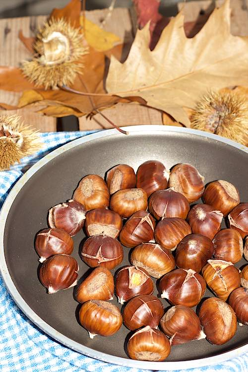 How to roast chestnuts in the pan at home