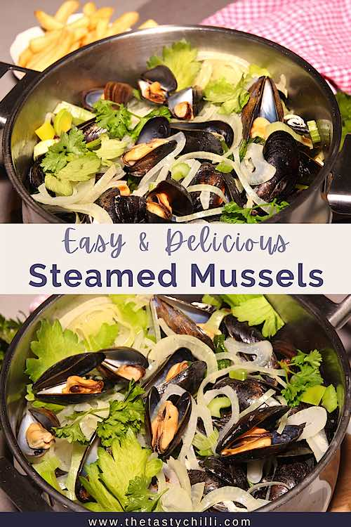 How to cook steamed mussels mariniere | moules marinieres | moules frites