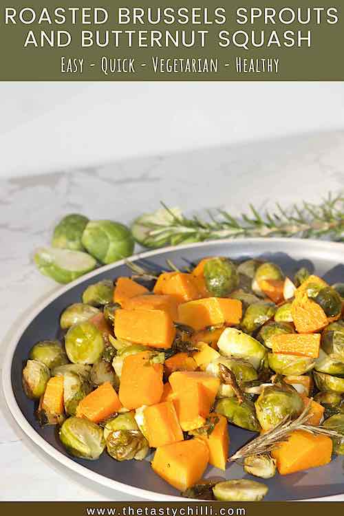 roasted brussels sprouts and butternut squash pin