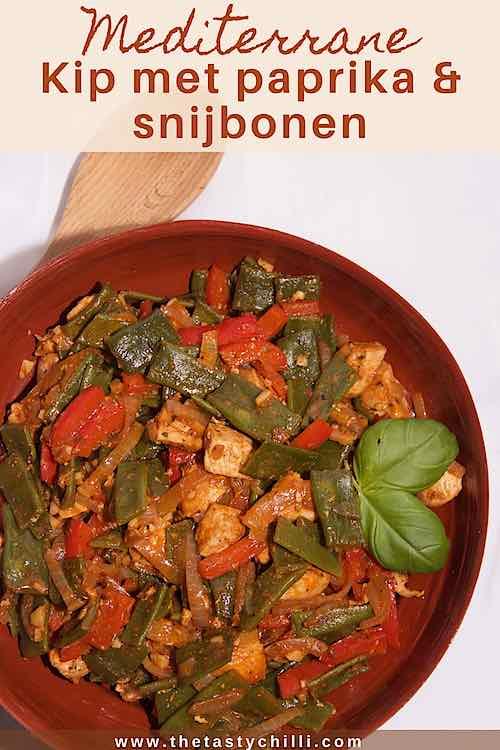 Mediterrane kip met paprika en snijbonen recept