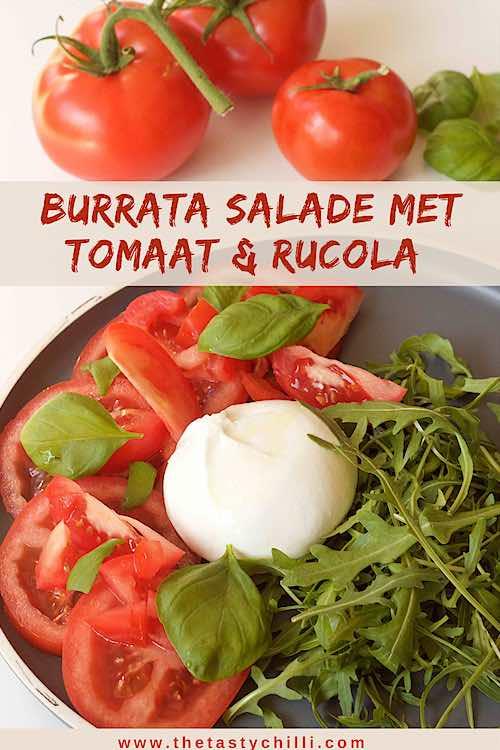 Burrata salade met tomaat en rucola