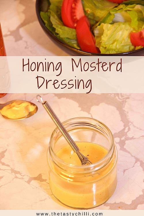 Honing mosterd dressing voor salade of honing mosterd vinaigrette