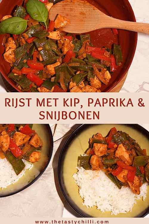 Rijst met kip en paprika en snijbonen recept