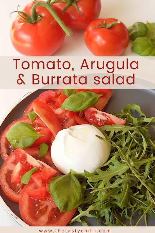 Tomato arugula burrata recipe and burrata salad