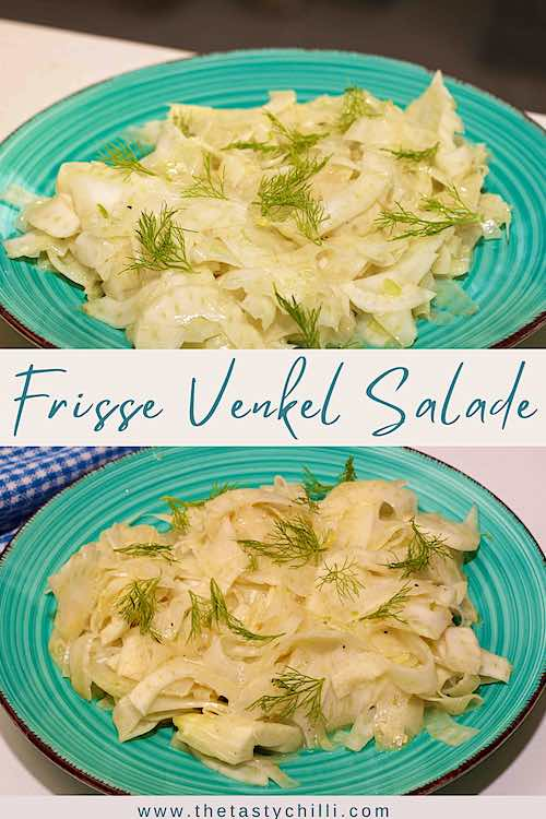 Frisse venkel salade met honing mosterd dressing | salade met venkel