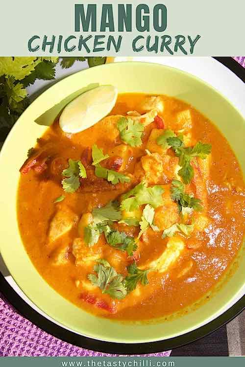 creamy mango chicken curry with lime, cilantro | chicken curry with mango