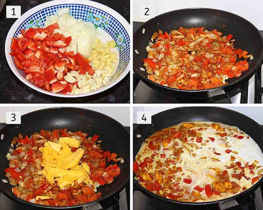 mango chicken curry step by step 1