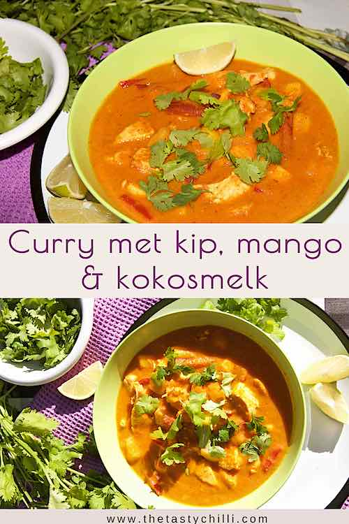 curry met kip mango en kokosmelk | kipcurry met mango en kokosmelk