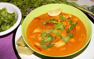 Mango chicken curry with coconut