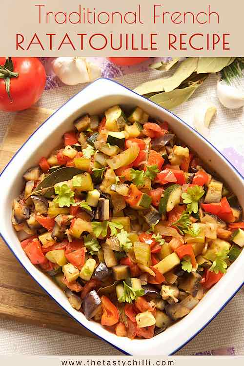 easy ratatouille recipe is a classic dish with summer vegetables stewed in a tomato sauce