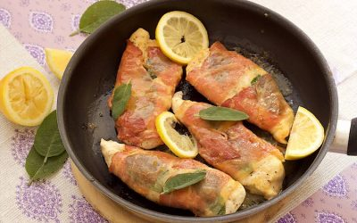 Chicken saltimbocca with sage and prosciutto